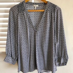 Joie 3/4 sleeved silk blouse with V-neck